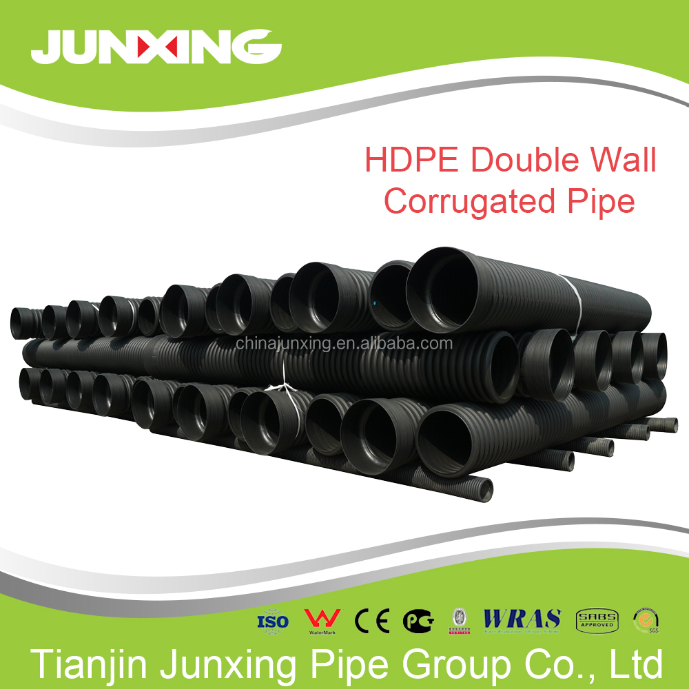DWC corrugated hollow wall hdpe pipes