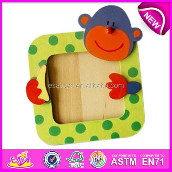 Top new wooden picture frame for kids wooden toy image for Picture frame decorating ideas for kids