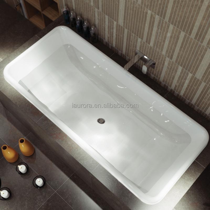 New Rectangle Drop-in Pure White Bathtub