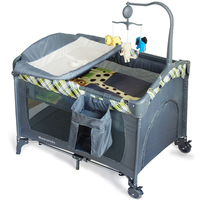 Top quality baby foldable travel cot with lovely patterns