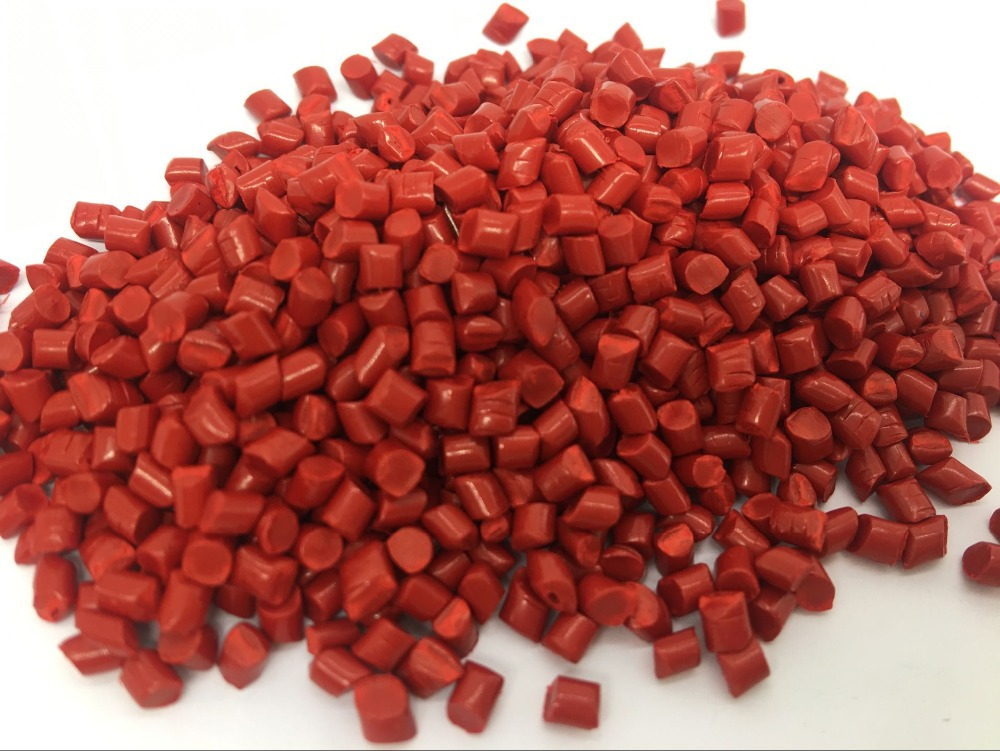 <strong>PE</strong> Red masterbatch of pigment 30% for blown-film bags