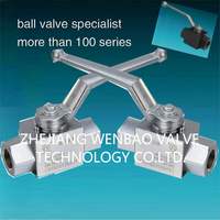 YJZQ 3PC High pressure hydraulic ball valve 3000WOG(PSI) / WENBAO Brand HYDRAULIC 2-WAY BALL VALVE WITH THREADED CONNECTIO