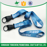 Personalized polyester cheap printed sublimation lanyard