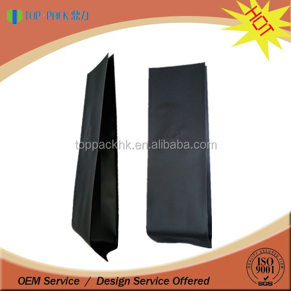New Style black matte coffee bag quad sealing
