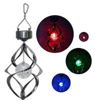 olar Power light Wind Spinner LED Light Outdoor Garden Courtyard Hanging Lamp Lawn Light