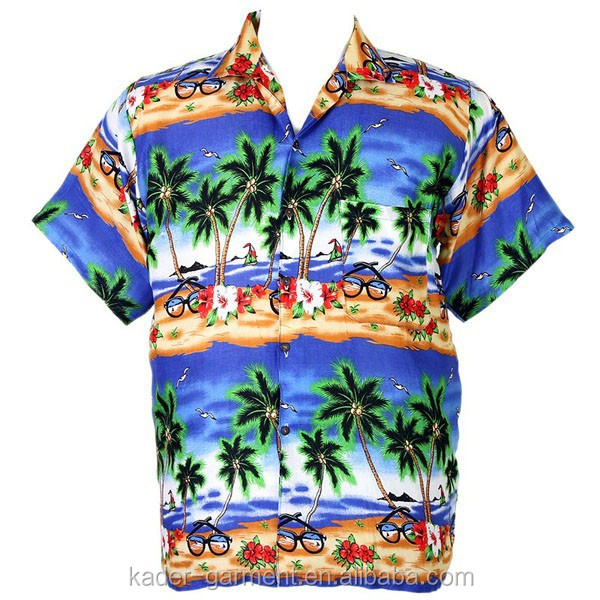 Hawaiian Aloha Shirt Coconut Big Chaba Beach Shirt Assorted Color