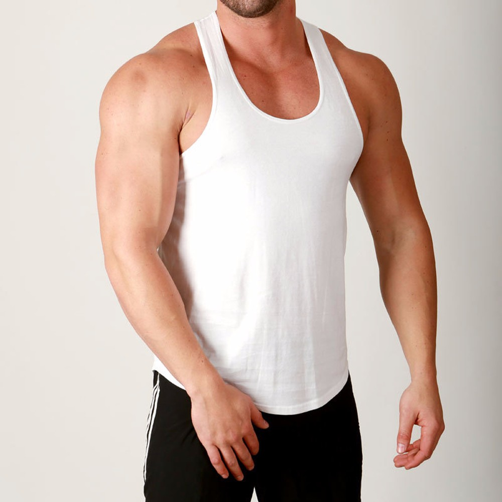 95% cotton & 5% spandex slim fit stringer vest