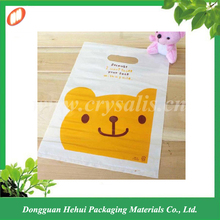Colorful printing die cut plastic carry pouch