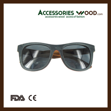 2016 Fashion Wooden Eyewear with High Quality and with Polarized Lenses and acatate arms for unisex