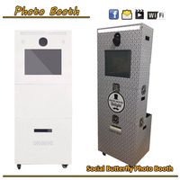 High quality wifi touch screen photo booth kiosk / wifi vending machine