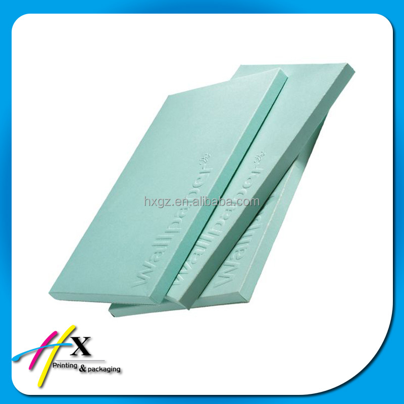 One pantone color printed paper box with blind embossed logo