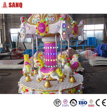 Made in China Kids amusement rides 6 Seats mini carousel for sale