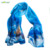 Custom Design Digital Printing High Quality Silk Chiffon Scarf