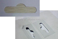sticky hanger reinforce packaging hang tabs