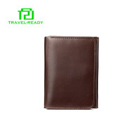 hot sale small brown mens genuine leather coin purse wallets wholesale