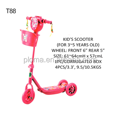 T88 Kids pedal scooter for 3 ~ 5 years old