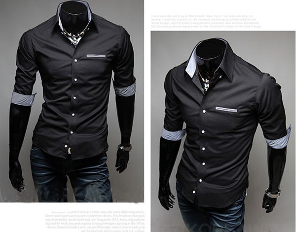 slim fit casual style new products wholesale brand name men dress shirts