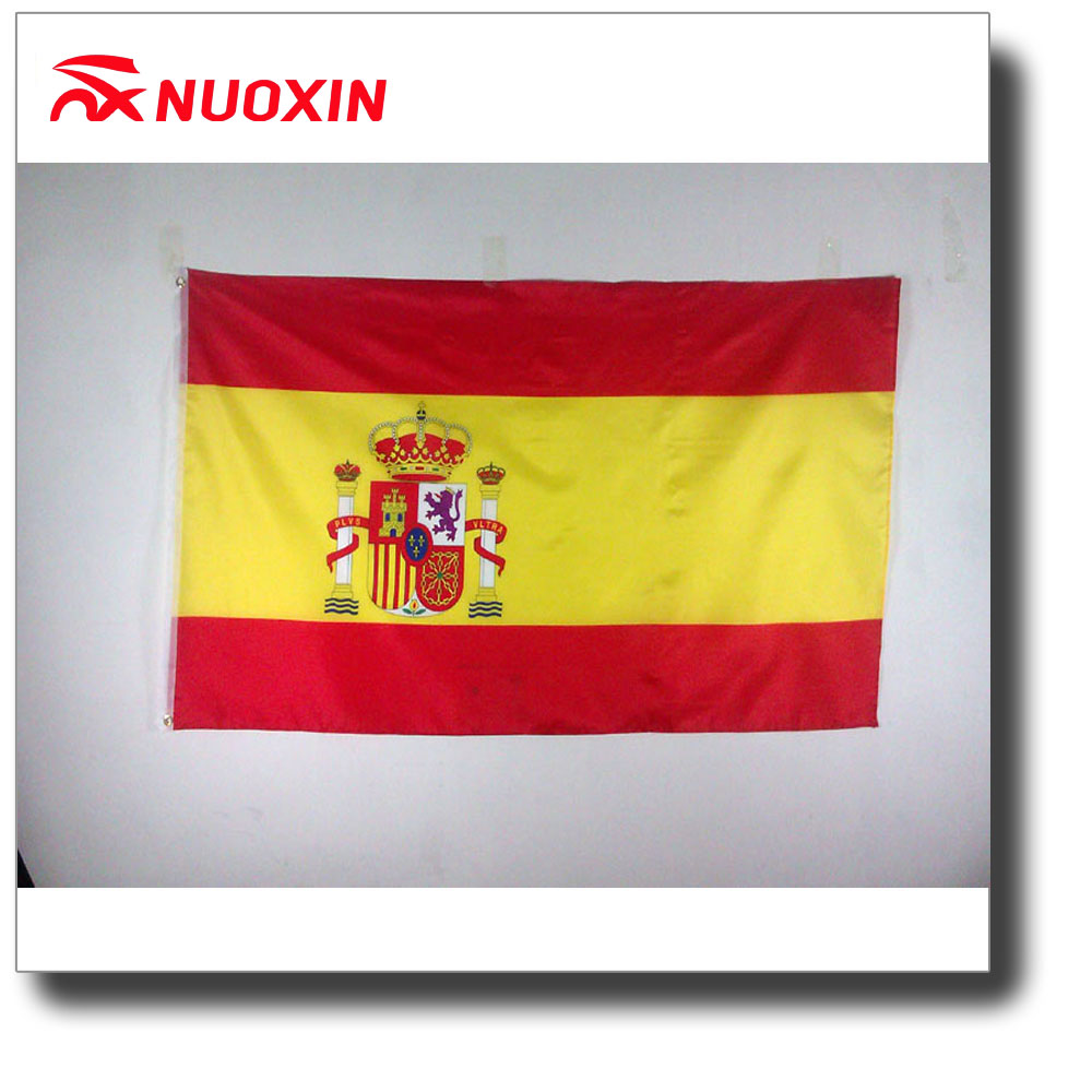 Cheap price 75D polyester outdoor flying Espana Spain flags