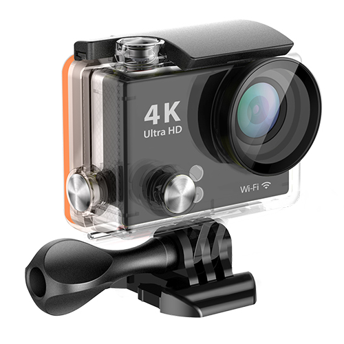 "170 degree Wide Angle 2"" Screen320-by-240-pixel screen wifi 2.4G remote 15meters action camera 4k with Waterproof Case 30m"