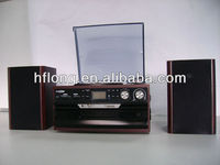 Smart gramophone product with multifunction USB/SD , CD player and cassette and radio functions