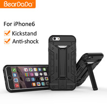 Latest design kickstand card slide phone case for iphone 6