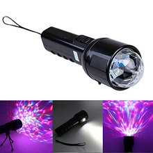 Mini Portable 2 in1 Flashlight&Crystal Led RGB Stage Light Led Torch Lamp with Tripod for DJ Disco KTV