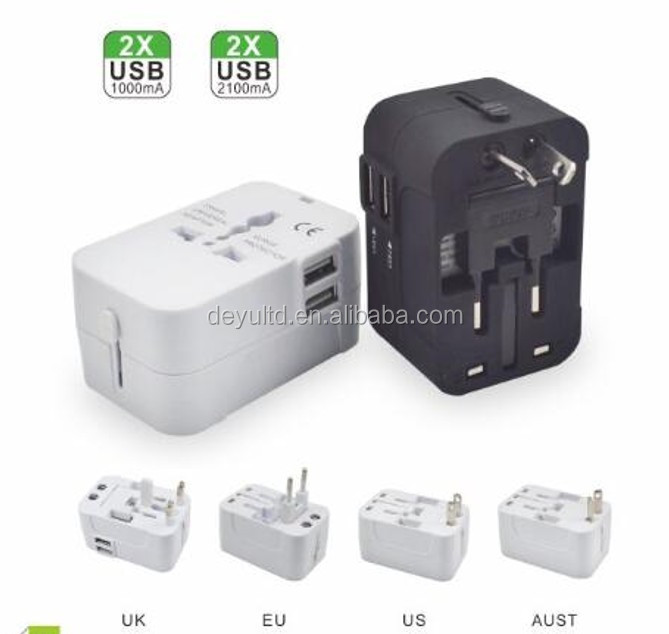 Fashion 2.1A Travel Adapter/2 USB Travel Adapter/All in one Travel Adapter Converter