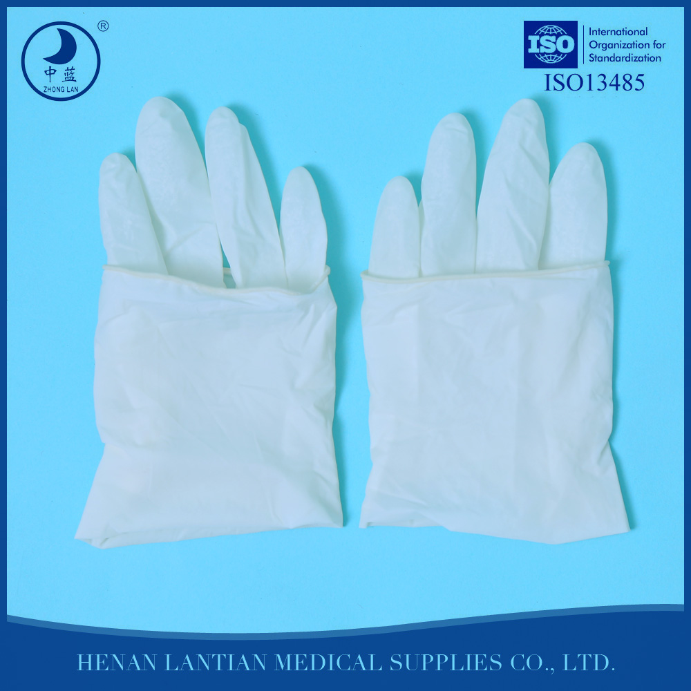 Sterile medical examination gloves hospital supply powder or powder free latex gloves