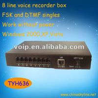 High Quality 8 Line Voice Recorder