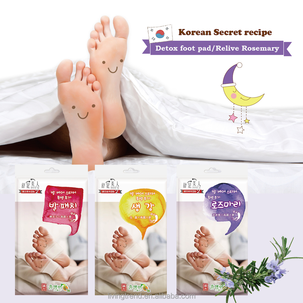 Korea detox slim foot patch nature extract with certificate