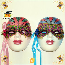 Ceramic Masquerade mask handmade crafts painted for party decoration