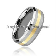 304l stainless steel plated gold ring 18k