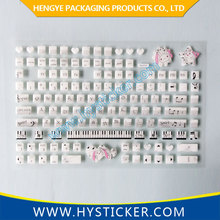New fashion decorative silicone skin for laptop keyboard lenovo