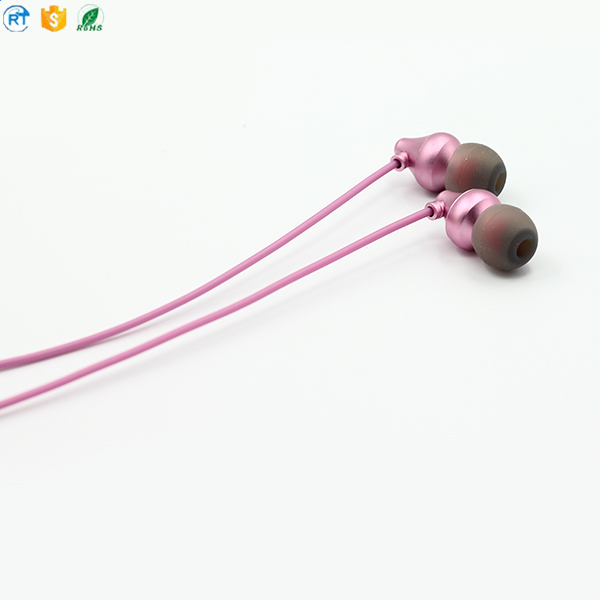 Metal Wired 3.5mm iOS Earphone Headphone with Microphone for smartphones