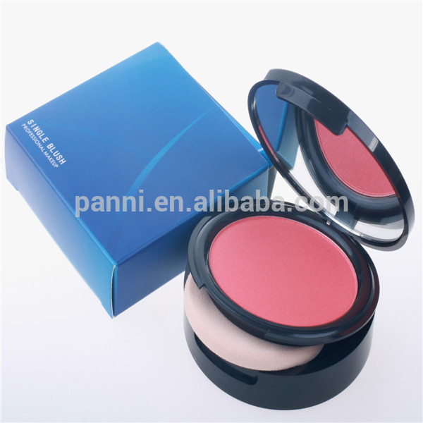 Top quality rose red mini blusher single color cheek blusher case
