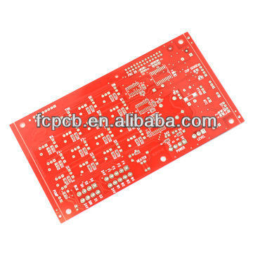 double sided pcb fr4 94v0 pcb red solder mask pcb manufacturer