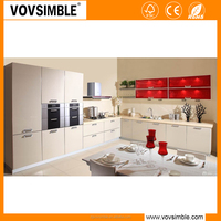 professional manufacturer of high quality kitchen cabinet with quartz countertop