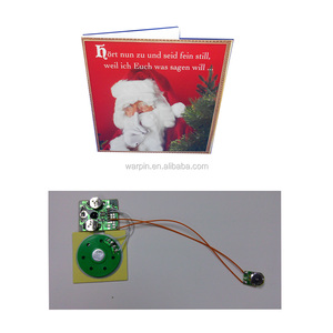 Electronics component voice recorder cards with Merry Christmas messages