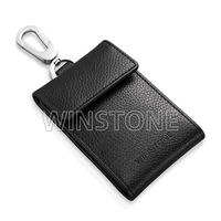 Geniune leather card holder pocket wallet