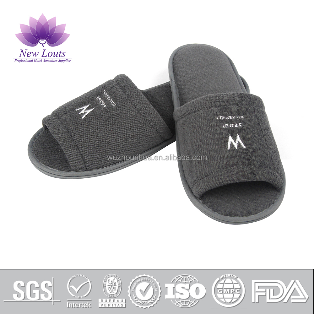 Hospital disposable velour surgical slippers for patients