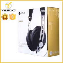 Affordable and durable over the ear style stereo headphones headphone wholesale