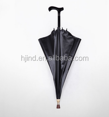 black gel coating umbrella light walking stick crutch rain umbrella for man
