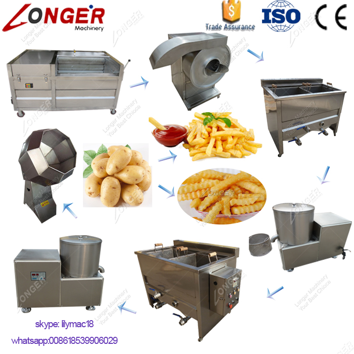 Factory Price Potato Chip Making Machine Production Line French Fries Equipment for Sale