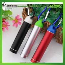 best quality power bank rohs lipstick portable power bank 2600 smart mobile power bank with climbing button carabiner