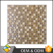 Wholesale Price Glass Mosaic Wall Decoration Bathroom Interior Wall Mix Square Calacatta White Marble Mosaic Tile In China