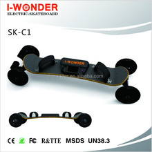 SK-C1 I-wonder offer road electric skateboard/longboard/bamboo wood deck/dual belt drive/CE certificated/remote control