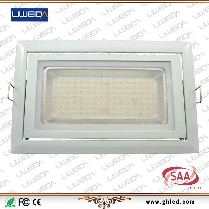38W LED Rectangular downlight ring lighting leeds factory shop