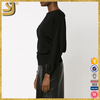 SHANGYI black wool sweater vest, ladies wool sweater