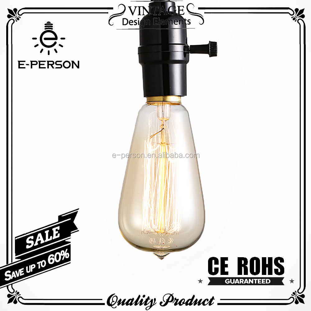 Home Decor Vintage Light Bulb ST64 40W Edison Bulb