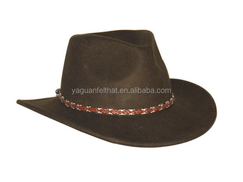 Men crushable and water proof wool felt cowboy hats for sale cheap
